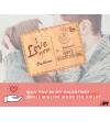 Biglietto d'auguri San Valentino in Legno